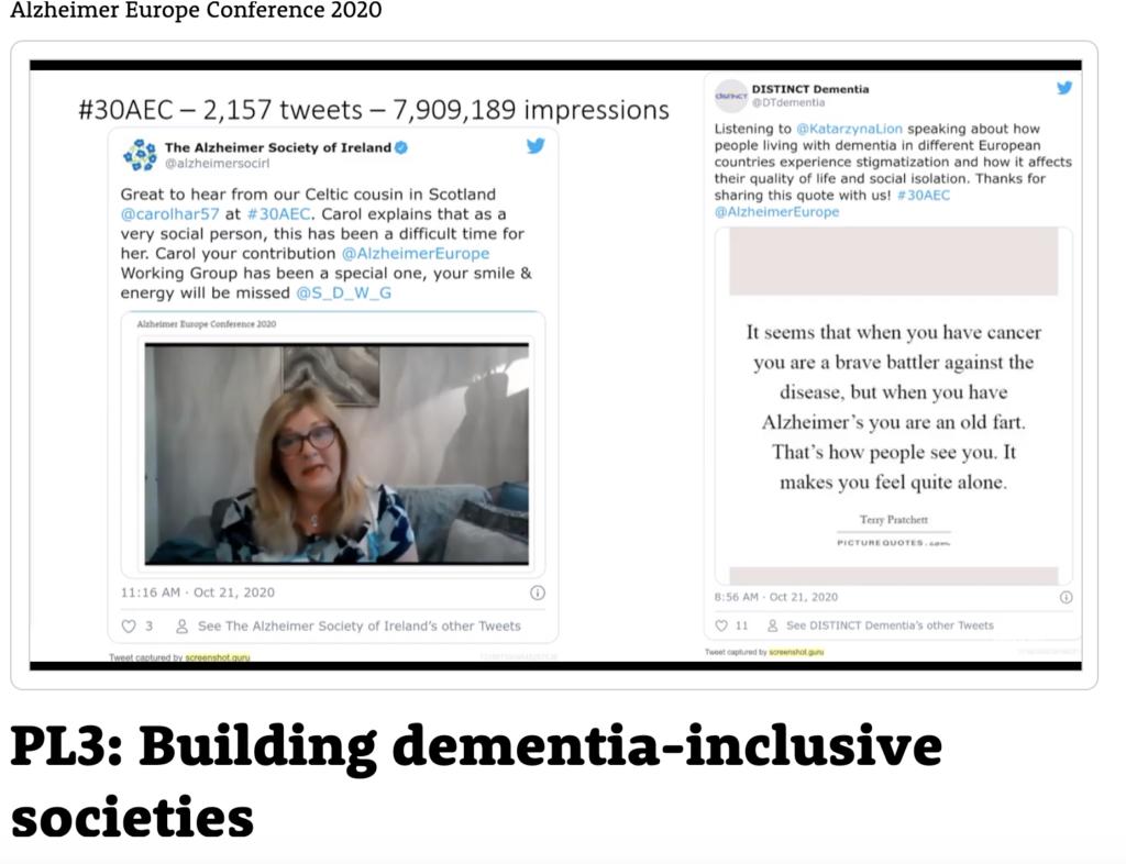 DISTINCT Tweet at Alzheimer Europe Conference 2020